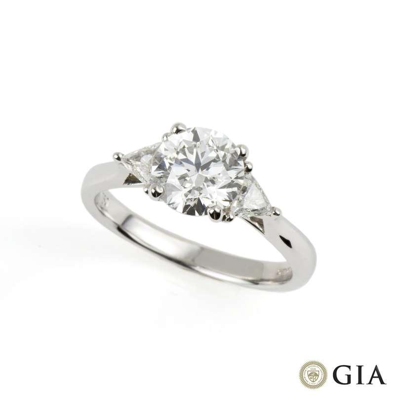 18k white gold brilliant cut ring 1 50ct h